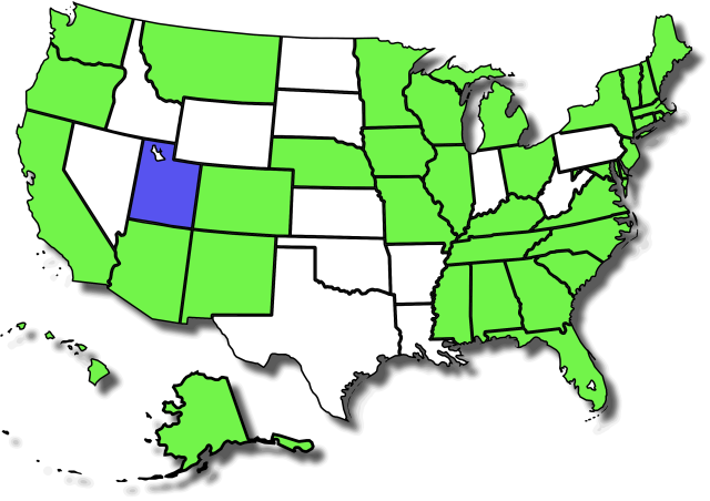 US Map - Some Form Legal Marijuana